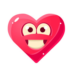 Content and proud emoji pink heart emotional vector