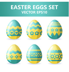 Easter eggs icons easter eggs for easter holidays vector