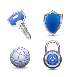 Security and protection symbols vector