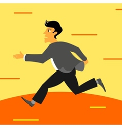 Running businessman vector