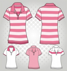 Women polo t shirt vector