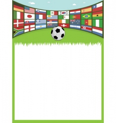 football with flags banner vector image