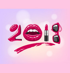 2017 year woman vector image