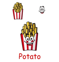 Takeaway box of fried potato chips vector