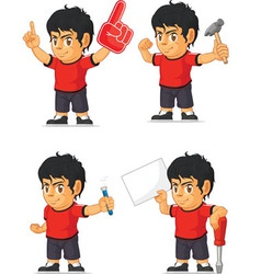 Soccer Boy Customizable Mascot 6 vector image