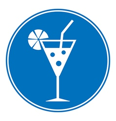 Cocktail sign is allowed to drink vector