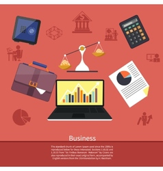 Background with various business elements vector