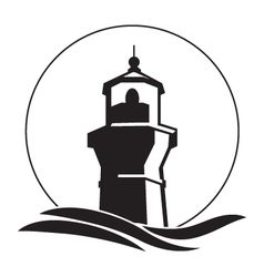 lighthouse logo vector image