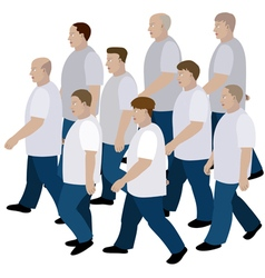 Group of men moving vector