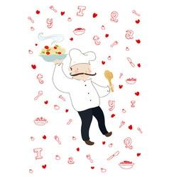 italian cook vector image