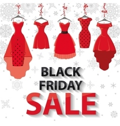 Black friday salered party dresses snowflakes vector