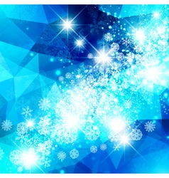 Snowflake christmas star background vector