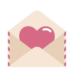 Love letter with heart vector