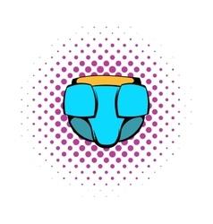 Baby diaper icon comics style vector image