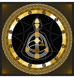 Astrological infographics hexagrams circle vector