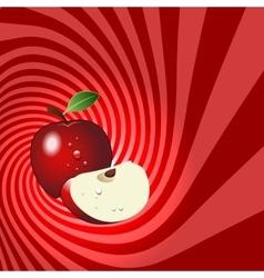Striped spiral apple patisserie background vector