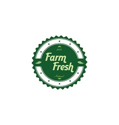 Fresh eco friendly green theme label vector