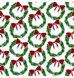 Christmas Wreathes pattern vector image