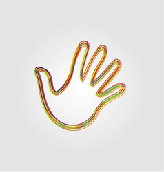 Design element with colorful hands vector