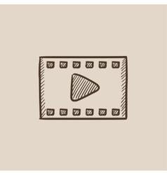 Film frame sketch icon vector