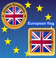 Flag symbol uk kingdom britain england united nat vector image vector image