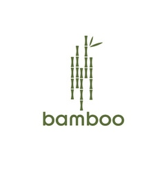 Green bamboo stems and leaves vector