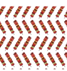 Grill invitation pattern background vector