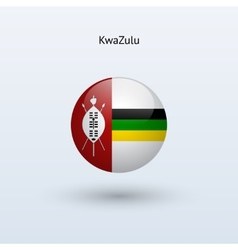 KwaZulu round flag vector image