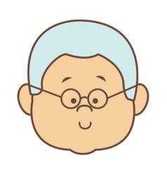 man character head face smiling cartoon vector image