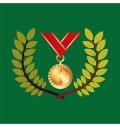 Medal win olympic games emblem vector