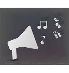 Musical Speaker Background vector image