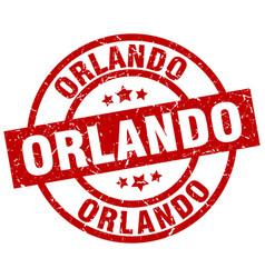 Orlando red round grunge stamp vector