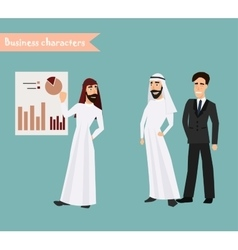 people character arab man business character vector image vector image