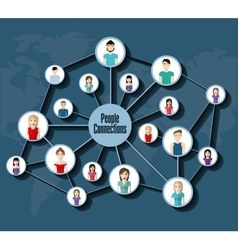 People icon Connections concept Flat vector image vector image
