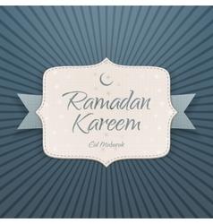 Ramadan kareem eid mubarak paper card vector