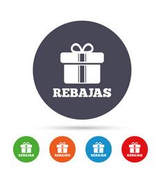 Rebajas - discounts in spain sign icon gift vector