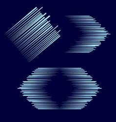 set of arrows lines vector image