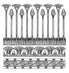 Set of egyptian ornament vector
