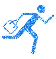 Shopping running man grunge icon vector