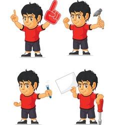 Soccer boy customizable mascot 6 vector