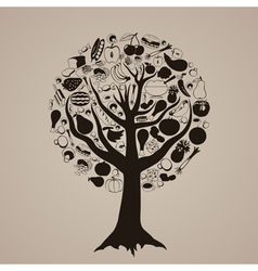 Tree meal vector image