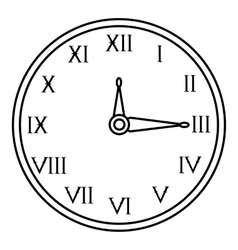 Wall clock icon outline style vector