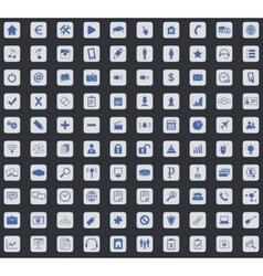 Webdesign icon set square vector