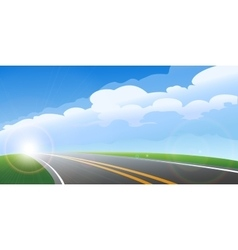 Morning road background vector