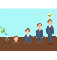 Professional growth of employee cartoon vector