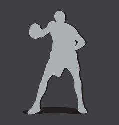 basketball player shilouete vector image