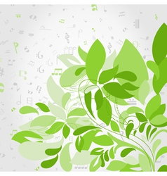 Plant music vector