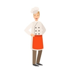 Restaurant Chef Cook Part Of Happy People And vector image