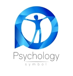 Modern man logo sign of psychology human in a vector