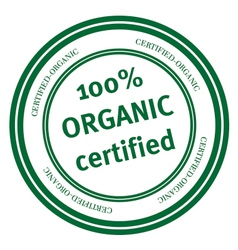 100 percent organic stamp vector